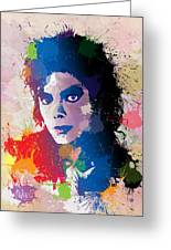 King Of Pop Greeting Card by Anthony Mwangi