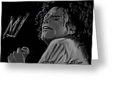 King Of Pop Greeting Card by Twinfinger