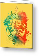 King Of The Jungle Greeting Card by Budi Satria Kwan
