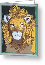 King Of The Jungle Greeting Card by John Hebb