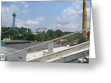 Kings Dominion - Shockwave - 01131 Greeting Card by DC Photographer