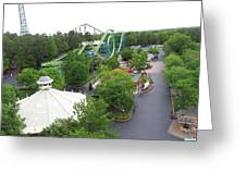 Kings Dominion - Shockwave - 01133 Greeting Card by DC Photographer