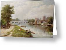 Kingston On Thames Greeting Card by Robert Finlay McIntyre