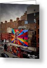 Kiss Me On The High Line Greeting Card by Russell Styles