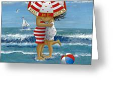 Kiss Me Quick Greeting Card by Peter Adderley