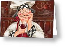 Kiss The Cook Greeting Card by Shari Warren