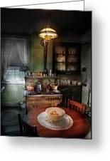 Kitchen - 1908 Kitchen Greeting Card by Mike Savad