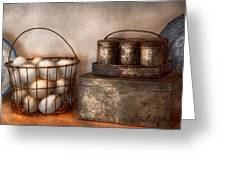 Kitchen - Food - Eggs - Fresh This Morning Greeting Card by Mike Savad