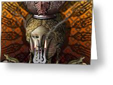 KITCHEN GODDESS Greeting Card by Larry Butterworth