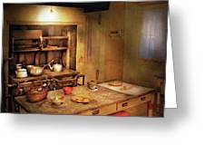 Kitchen - Granny's Stove Greeting Card by Mike Savad
