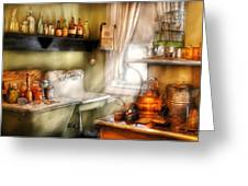 Kitchen - Momma's Kitchen  Greeting Card by Mike Savad