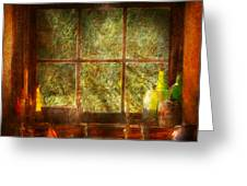 Kitchen - Table Setting Greeting Card by Mike Savad