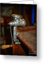 Kitchen - The Meat Grinder Greeting Card by Paul Ward