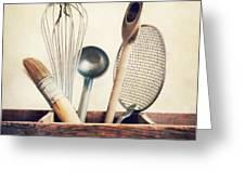 Kitchenware Greeting Card by Priska Wettstein