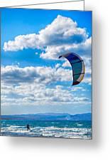 Kitesurfer Greeting Card by Antony McAulay