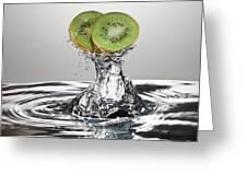 Kiwi FreshSplash Greeting Card by Steve Gadomski