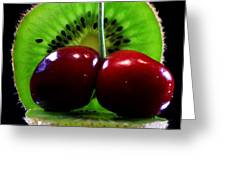 Kiwi Fruit Greeting Card by Dipali S