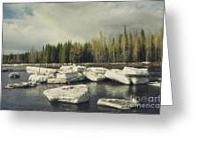 Klondike River Ice Break Greeting Card by Priska Wettstein