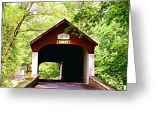 Knecht's Covered Bridge Greeting Card by Paul Ward