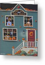 Knit Wit Yarn Shoppe Greeting Card by Catherine Holman