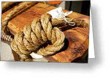 Knotted Hemp Greeting Card by Allan Morrison