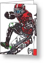 Knowshon Moreno Greeting Card by Jeremiah Colley