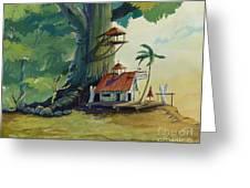 Ko' Olau Surf Shack Greeting Card by Bill Shelton