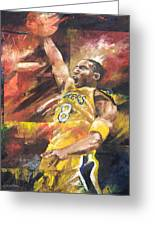 Kobe Bryant  Greeting Card by Christiaan Bekker