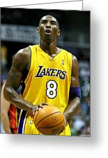 Kobe Bryant Greeting Card by Mountain Dreams