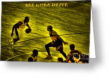 Kobe Lakers Greeting Card by RJ Aguilar