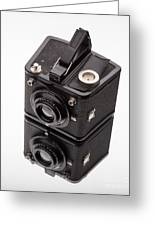 Kodak Brownie Film Camera Mirror Image Greeting Card by Edward Fielding