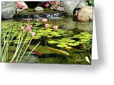 Koi Pond Greeting Card by Doug Kreuger