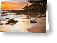Koki Beach Sunrise Greeting Card by Inge Johnsson