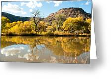 Kolob Pond In Fall Zion National Park Utah Greeting Card by Robert Ford