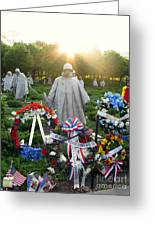 Korean War Memorial In Dc Greeting Card by Olivier Le Queinec