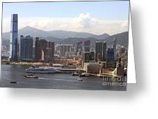 Kowloon In Hong Kong Greeting Card by Lars Ruecker