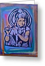 Krishna 2 Greeting Card by Tony B Conscious