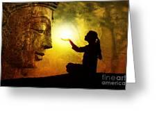 Krishna Devotion Greeting Card by Tim Gainey