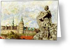Kronborg Castle Greeting Card by Catf