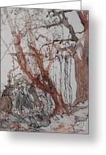 Kudzu Winter Greeting Card by Elizabeth Carr