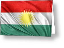 Kurdistan Flag Greeting Card by Les Cunliffe