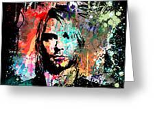Kurt Cobain Portrait Greeting Card by Gary Grayson
