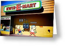 Kwik-e-mart Greeting Card by Nina Prommer