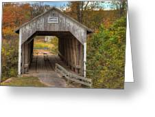 Ky Hillsboro Or Grange City Covered Bridge Greeting Card by Jack R Perry