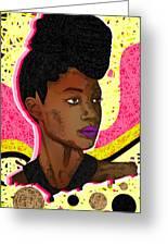 La Belle Tia Greeting Card by Kenal Louis