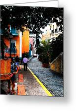 La Calle Greeting Card by Simone Hester