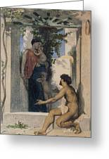 La Charite Romaine Greeting Card by William Bouguereau