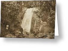 La Coca Falls El Yunque National Rainforest Puerto Rico Print Vintage Greeting Card by Shawn O'Brien