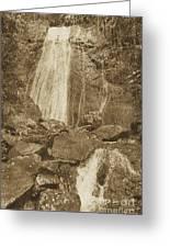 La Coca Falls El Yunque National Rainforest Puerto Rico Prints Vintage Greeting Card by Shawn O'Brien