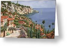 la costa Greeting Card by Guido Borelli